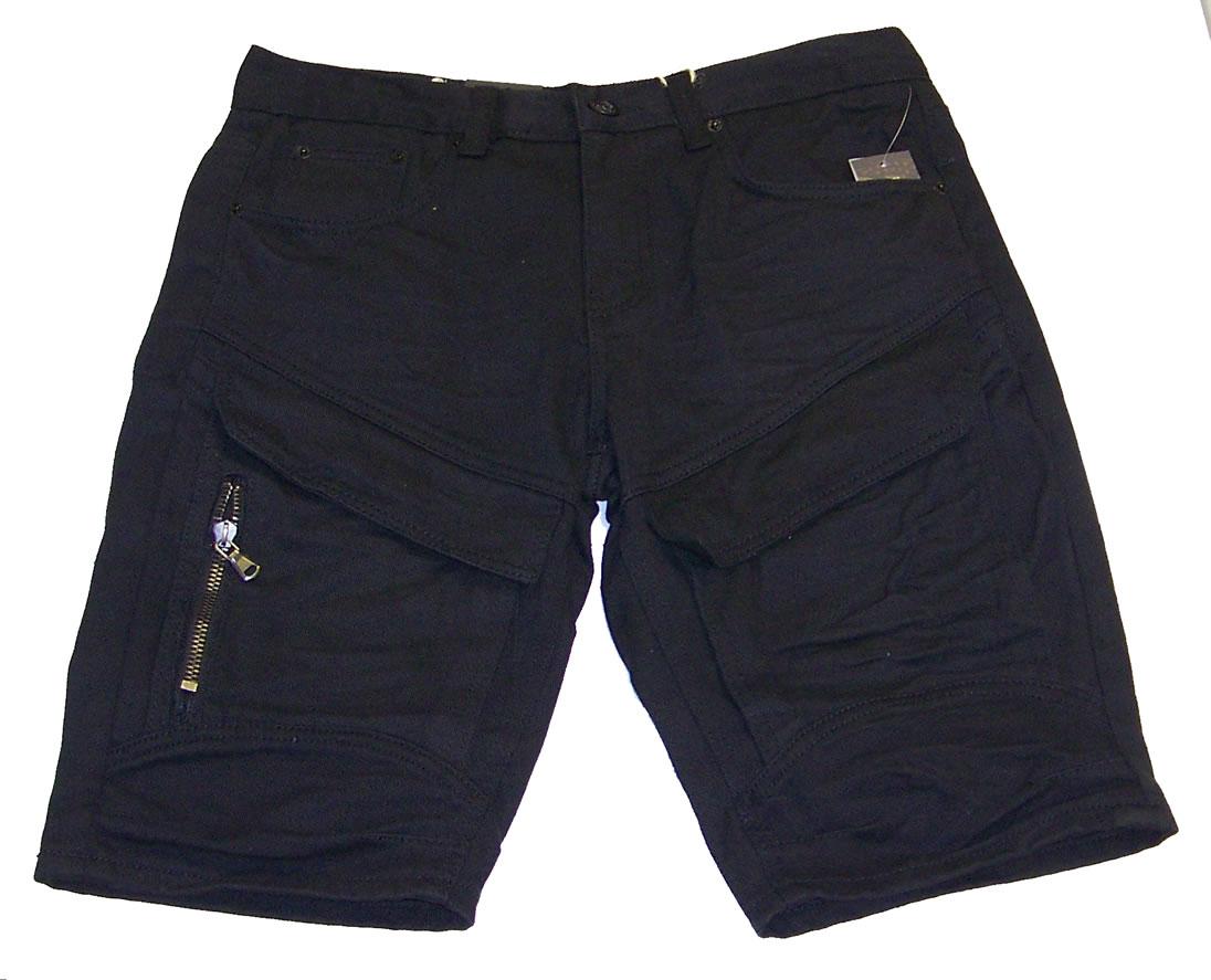 Vintage Americana Denim Shorts Black VA WB 238 Hookup Fashions
